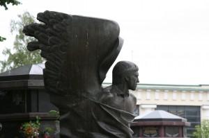 Памятник Владимиру Высоцкому на Ваганьковском кладбище