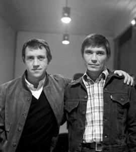 Владимир Высоцкий и Иван Бортник на 60–летии Юрия Любимова в театре на Таганке. 30 сентября 1977 года